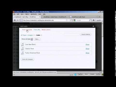 Inserting Audio or MP3 Files on Wordpress Blog Post