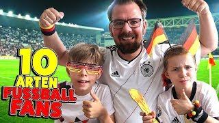 10 ARTEN von FUSSBALL FANS  🎉 ⚽️ Vorbereitung Fussball WM 2018 mit Lulu & Leon - Family and Fun