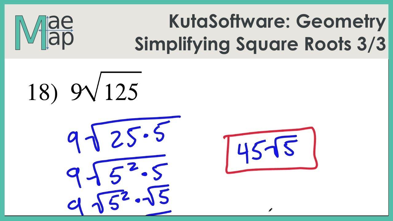 Kutasoftware Geometry Simplifying Square Roots Part 3 Youtube