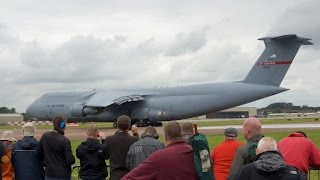Lockheed C-5B Galaxy US Air Force departure on Monday RIAT 2012 AirShow