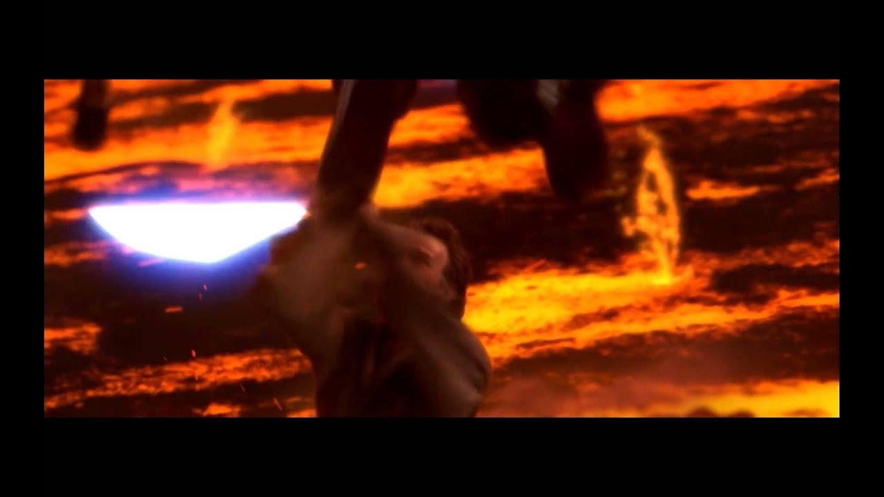 The Fall Of Anakin Skywalker Fight With Obi Wan Kenobi Youtube