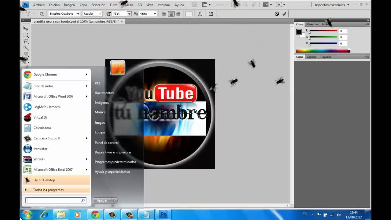 Como bajar Plantillas para PS cs4 y editarlas - YouTube