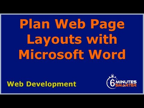 Plan Web Page Layouts With Microsoft Word