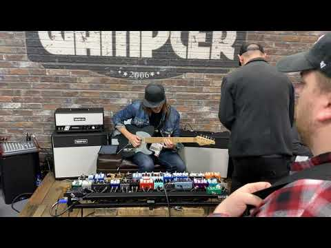 Andy Wood at NAMM 2019 Anaheim wampler booth