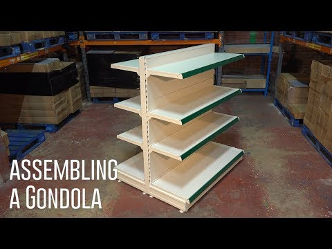 How to assemble Gondola Shelving & Promo assembly step by step video guide - Shelving4shops