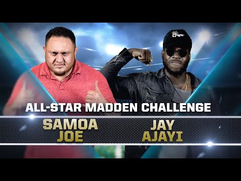 SAMOA JOE vs. Miami's JAY AJAYI — Madden 18 All-Star Challenge
