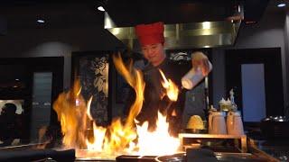 Professional Hibachi Grill Chef Preparing Delicious Meal 2015 Part 2