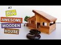 DIY Awesome Wooden House #7: Easy Steps | Crafts projects