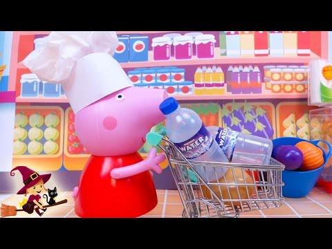 Peppa Pig y la Bebé Van de Compras en Supermercado