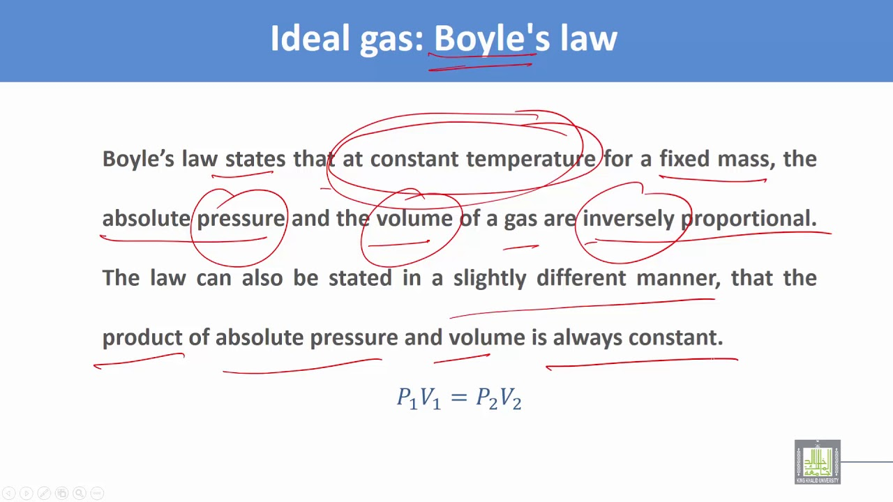 thermodynamics and fluid mechanics c2 l10 ideal gas law [ 1280 x 720 Pixel ]