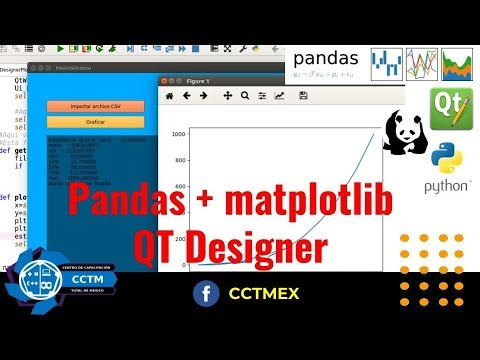 Pandas + QT Designer| Python | PyQT5 | Pandas | Matplotlib | P4 |¡Muy básico!