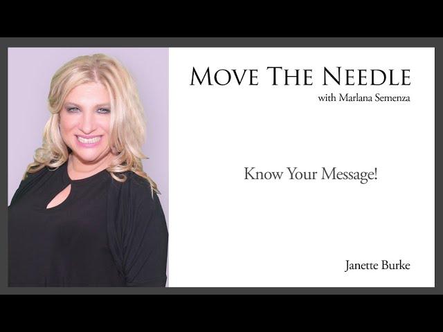 Move The Needle : Janette Burke
