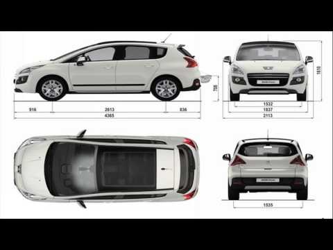 peugeot 3008 dimensions youtube. Black Bedroom Furniture Sets. Home Design Ideas
