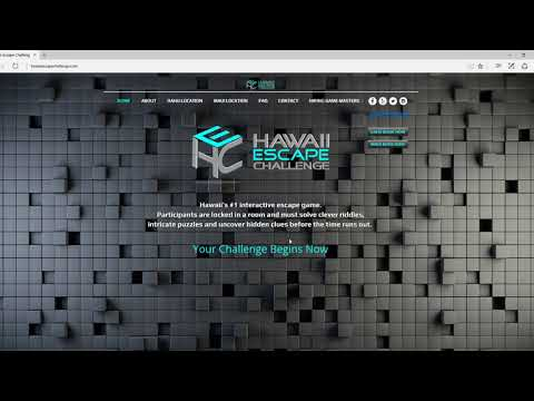 Tutorial on booking a room at Hawaii Escape Challenge.