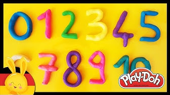 Zahlen lernen für Kinder - Deutsch Play Doh - Learn numbers in german - Titounis