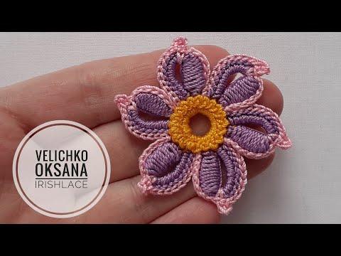 Маленький цветок для ирландского кружева.  Irish Lace.