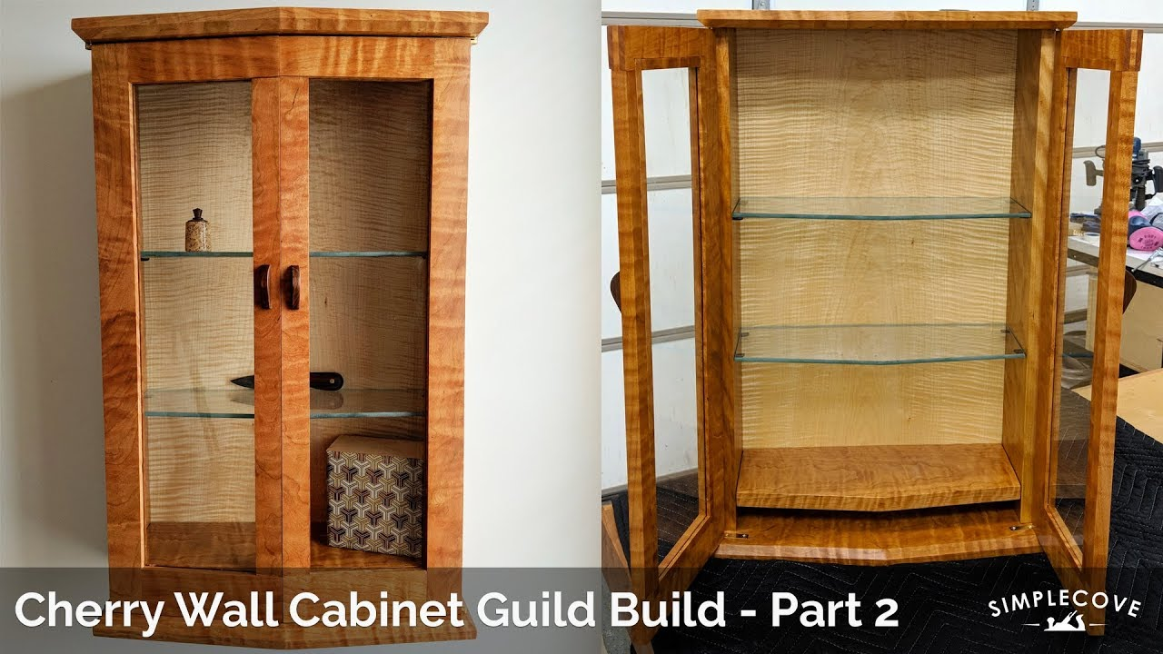 Cherry Wall Cabinet Guild Build Part 2: Bridal Joint Doors