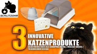 🔥3 Innovative Katzenprodukte/ selbstreinigendes Klo ScoopFree/ Trinkbrunnen Sedona/ FroliCat Cheese