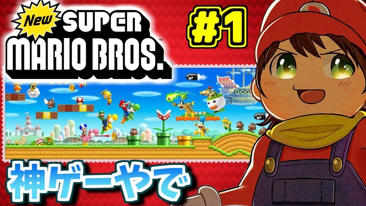 DSの「Newスーパーマリオブラザーズ」全隠しゴール攻略します Part1【New Super Mario Bros.DS】