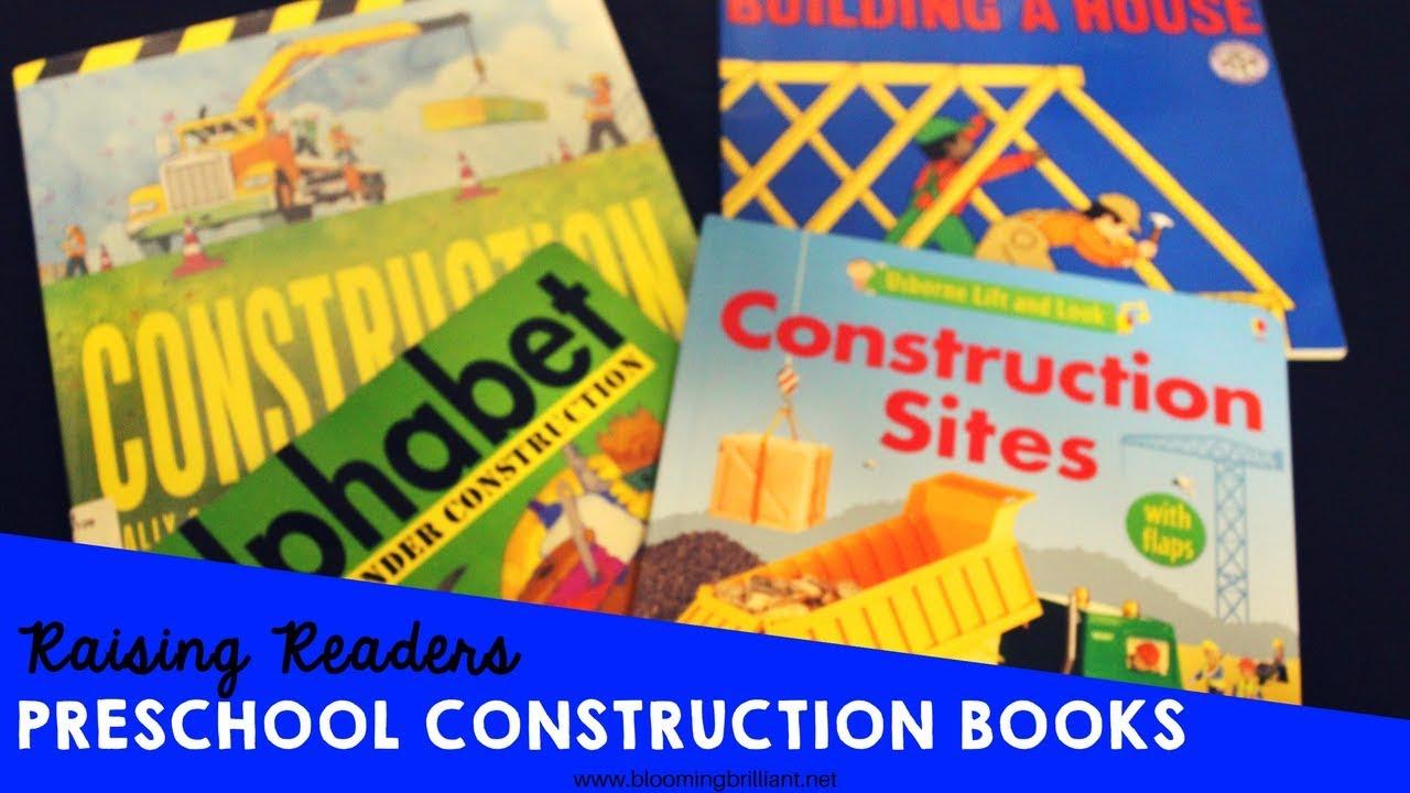 Preschool Construction Books Kidlit Bookreview Youtube