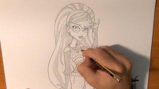 Dibujar a Ghoulia Yelps de las Monster High