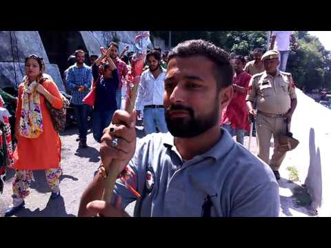 SLRM jammu.. Trained youth on protest