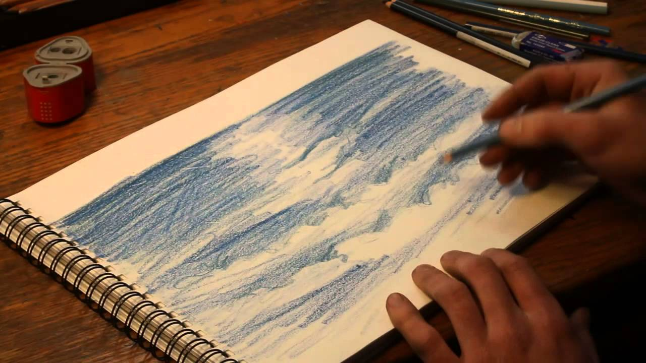 Free tutorials on how to draw water with prismacolor pencil