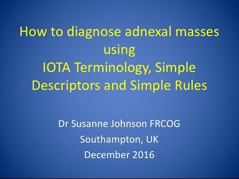 How to diagnose adnexal masses using IOTA terminology, Simple Descriptors, Simple Rules