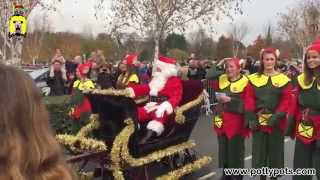Santa Arrives By Sleigh Webbs Garden Centre 2014