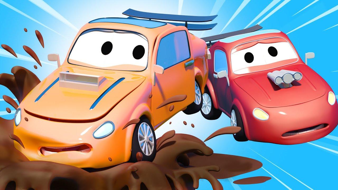 El lavado de Autos de Tom -  Tyler El Travieso - Dibujos animados de carros
