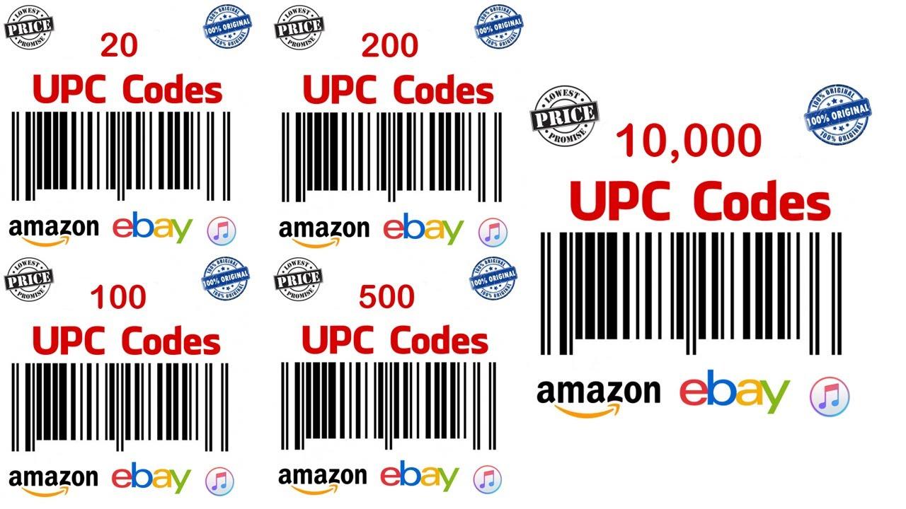 buying upc codes for amazon