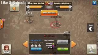 Clash Of Clans Top 2 Trận Đánh War 3* Tow Hall11 (War Clash Of Clans)