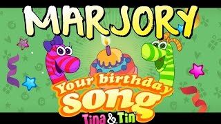 Tina&Tin Happy Birthday MARJORY👸🏻 🤴🏻  (Personalized Songs For Kids)👦🏼 👧🏼
