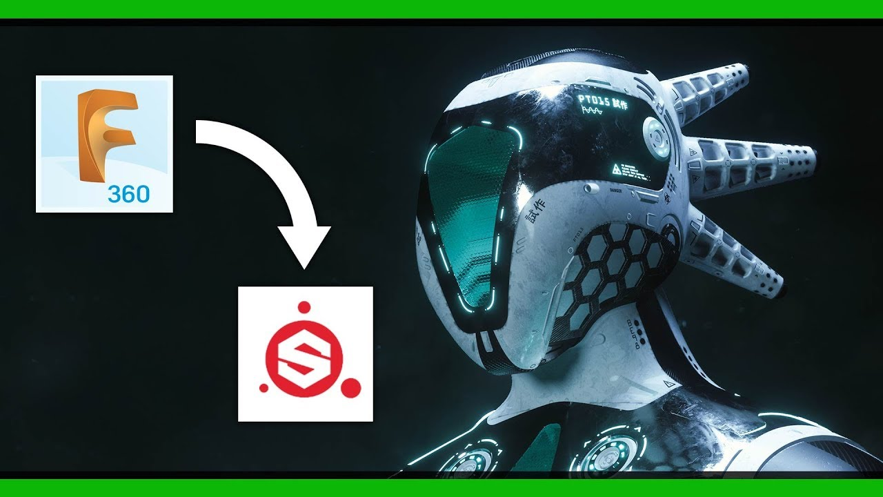 Fusion 360 to Substance Painter Tutorial   Uv Unwrapping + Complete  Timelapse