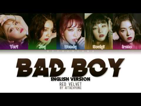 Red Velvet - Bad Boy (English Version) (Color Coded ENG Lyrics)