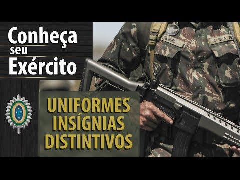 0d7b13b349 Uniformes, Insígnias e Distintivos do Exército - YouTube