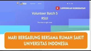 INFO LOWONGAN PEKERJAAN DI RUMAH SAKIT UNIVERSITAS INDONESIA BATCH 5 JULI 2021