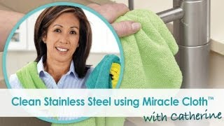 How to clean stainless steel with microfiber cloth   Solutions