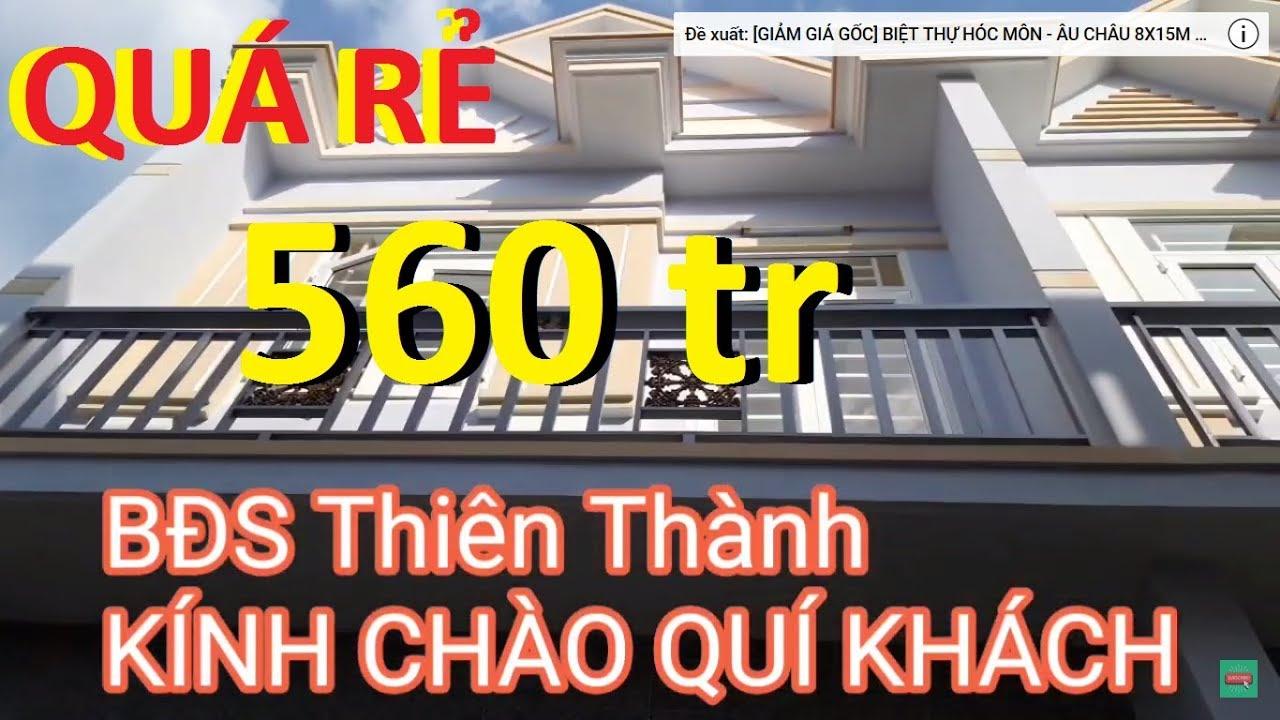 Bán Nhà Giá Rẻ 560 triệu 4.5x10m 1 Lầu Cuối Hóc Môn Đầu Long An