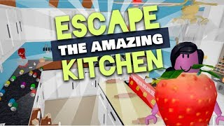 Escape the Amazing Kitchen - Jogando Roblox!!!!!!!