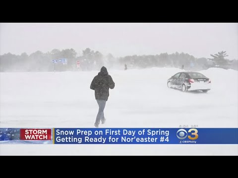 Snow Prep Underway As Region Gets Ready For Nor'Easter #4