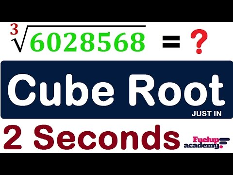 Cube Root 2 Seconds shortcut trick | Speed Math trick | Maths [in Hindi]