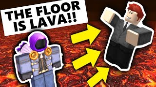 THE FLOOR IS LAVA ON ROBLOX AT 3:00 AM