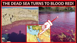 Dead Sea turns bl๐od red before holy day of Yom Kippur (Day of Atonement)