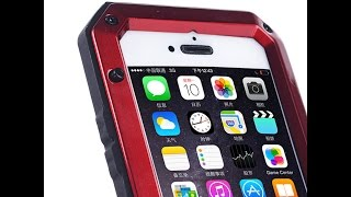 Rugged Aluminum Metal Bumper + Tempered Glass Water Resistant Extreme Case For iPhone 5 6 6 Plus 6+