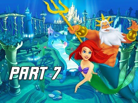 Kingdom Hearts 1.5 Walkthrough Part 7 - Ariel & Atlantica (PS4 Let's Play)