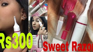 Veet Razor dupe Rs300 only/ Sweet Razor review demo/ face shaving
