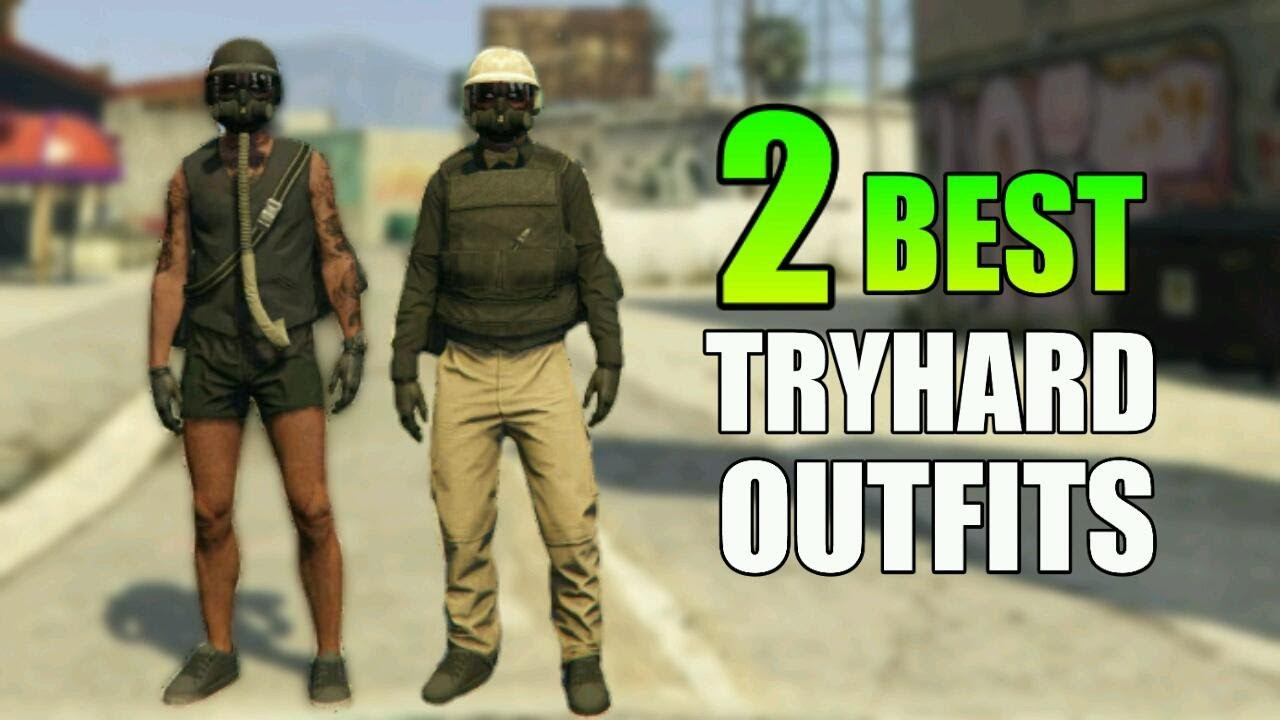 GTA 5 Online 2 BEST TRYHARD COMBAT MODDED OUTFITS TUTORIAL - YouTube