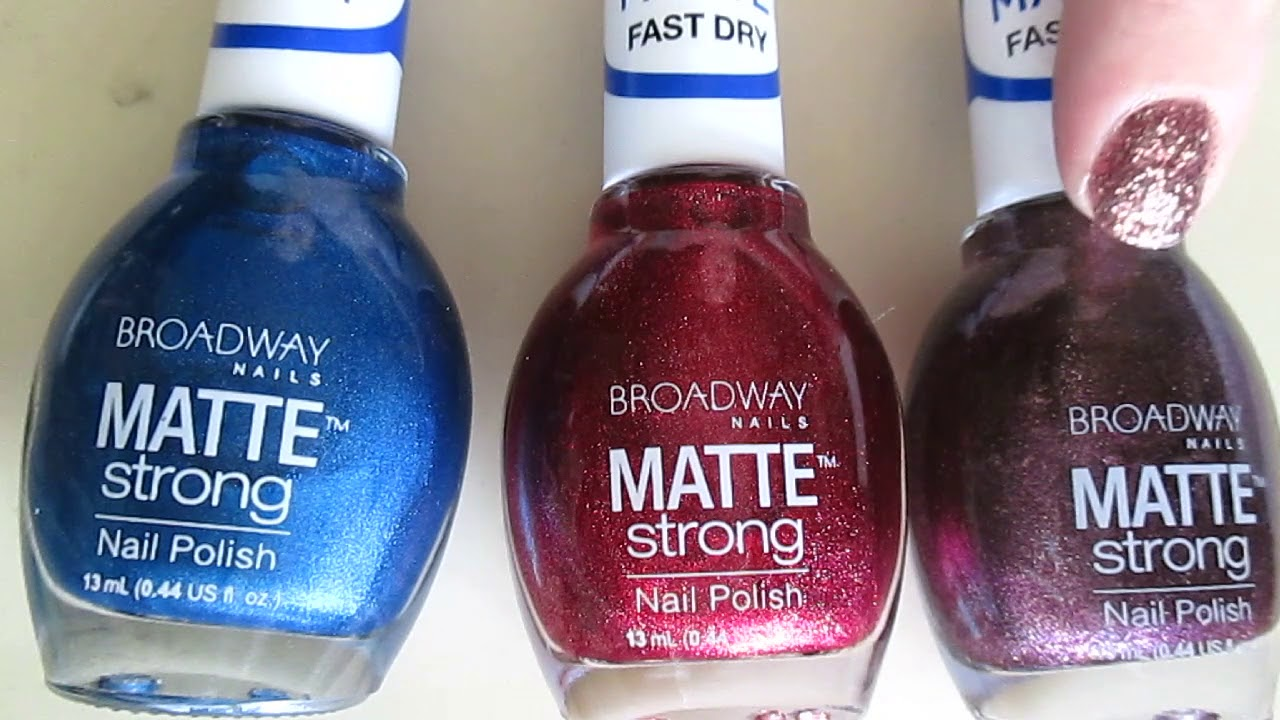 Broadway All in One Cuticle Remover & MATTE Strong Nail Polish ...