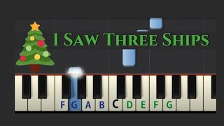 Easy Piano Tutorial: I Saw Three Ships